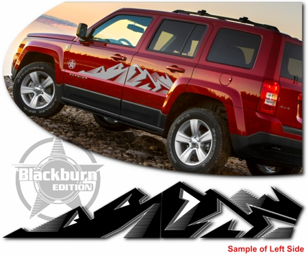 Jeep Patriot Body Side Graphic Kit 1 Blackburn Edition