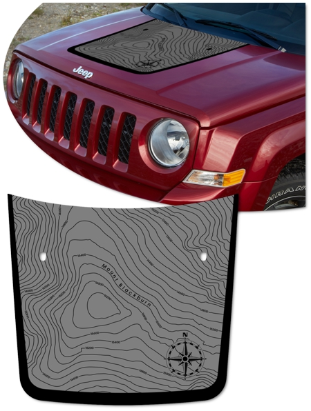 Jeep Patriot Hood Graphic Kit 2 Blackburn Edition Sport Se