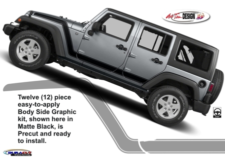 Jeep Wrangler Advance Body Side Graphic Kit 1