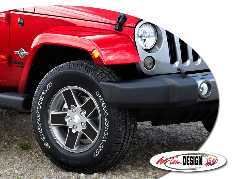 Burgundy Jeep Wrangler >> Jeep Wrangler Factory Wheel Decal Set - 17 Inch