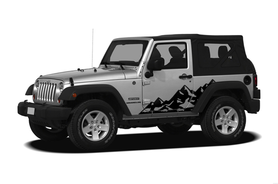 Two Door Jeep Wrangler Graphic