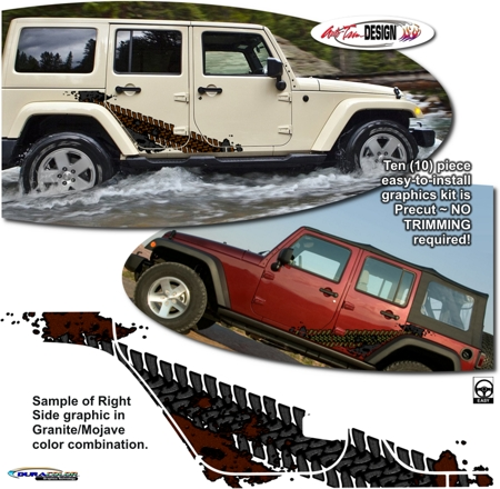 Jeep Wrangler Unlimited Override Body Side Graphic Kit 1