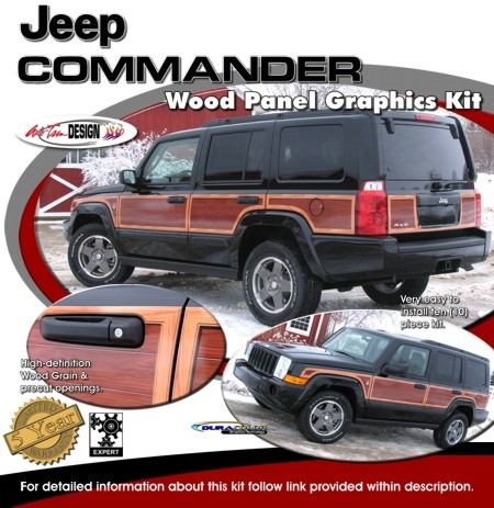 Jeep Commander Wood Panel Graphics Kit 1 Wagoneer