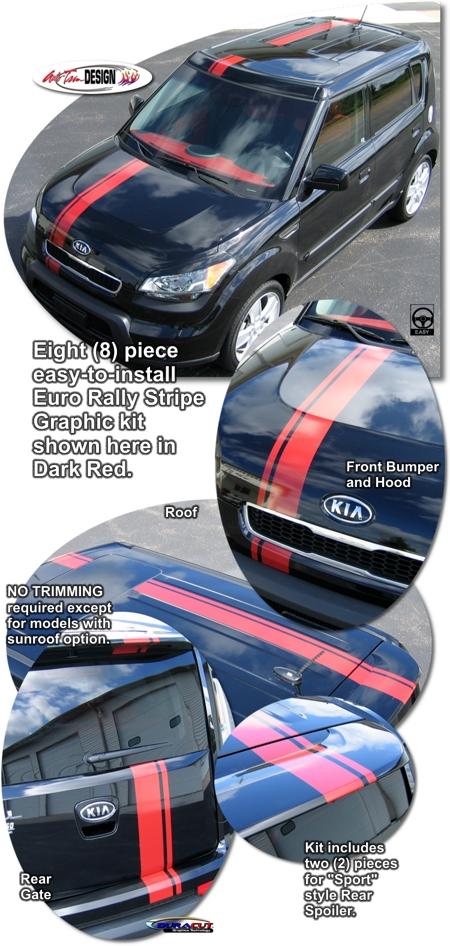 Kia Soul Euro Rally Stripe Graphic Kit 1