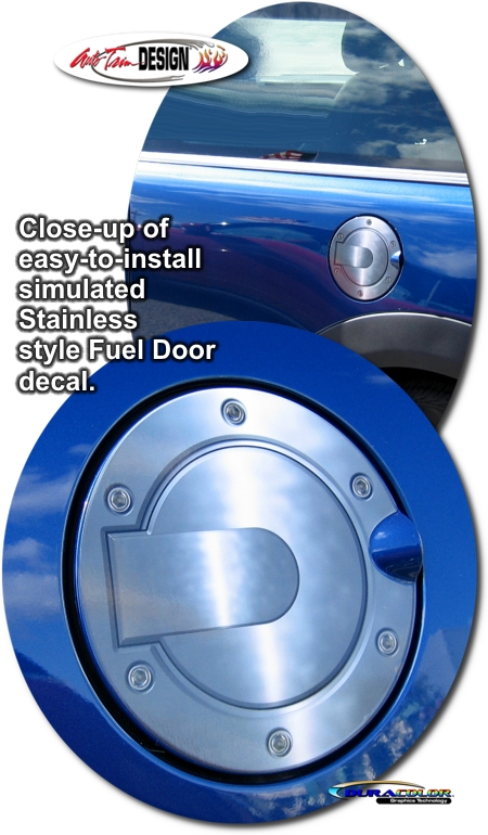 Simulated Billet Style Fuel Door Decal 2 For Mini Cooper