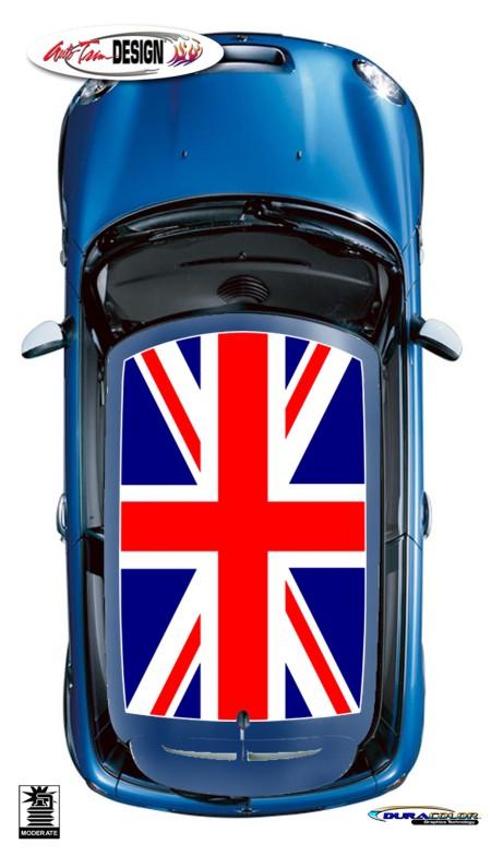 Mini Union Jack British Flag Roof Graphic Kit 2 Cooper