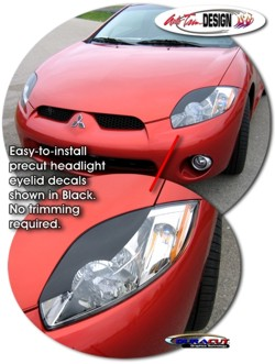 Headlight Eyelid Decal Kit 1 For Mitsubishi Eclipse