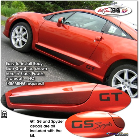 Body Side Graphic Kit 2 For Mitsubishi Eclipse