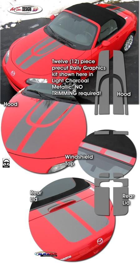 Mazda Mx 5 Miata Rally Stripe Graphic Kit 1 Mx5