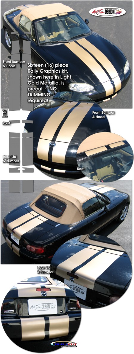 Mazda Mx 5 Miata Rally Stripe Graphic Kit 2