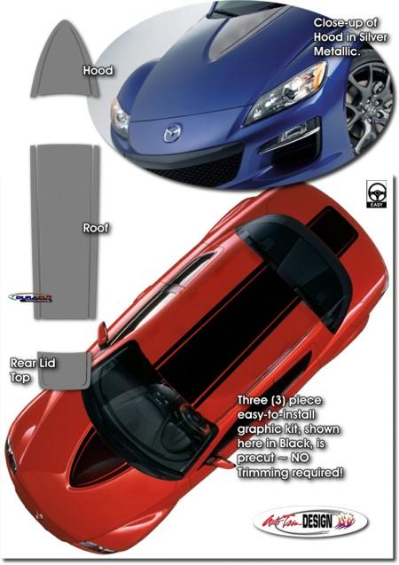 Mazda Rx 8 Rally Stripe Graphic Kit 1