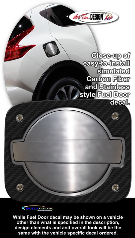 Nissan Juke Simulated Billet Style Fuel Door Decal 1
