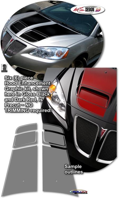 Hood Enhancement Graphic Kit 1 For Pontiac G6 Factory
