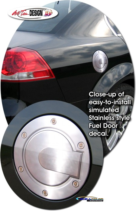Simulated Billet Fuel Door Decal 1 For Pontiac G8
