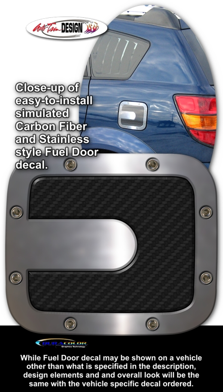 Simulated Carbon Fiber Fuel Door Decal 1 For Pontiac Vibe