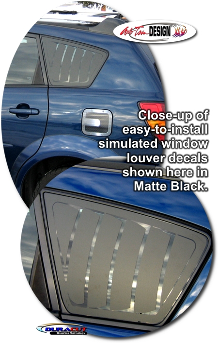 Simulated Window Louver Decal Set 1 For Pontiac Vibe