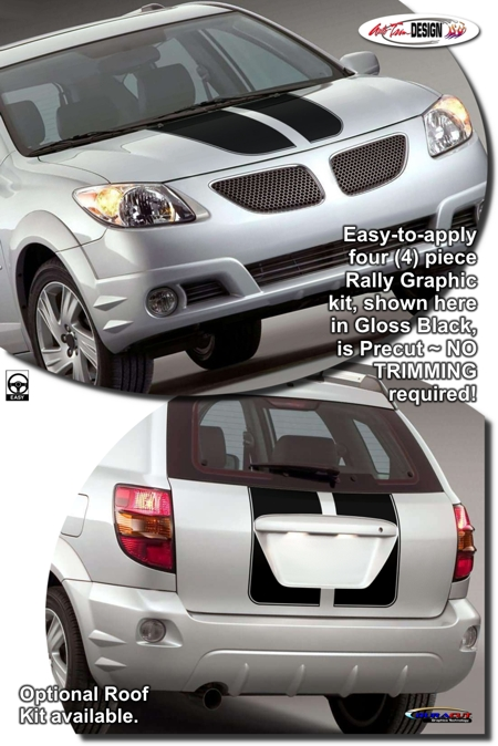 Pontiac Vibe Rally Stripe Graphic Kit 1