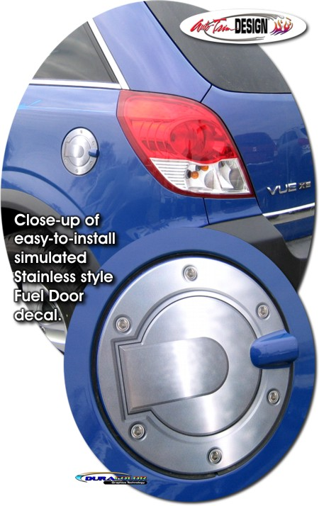 Simulated Billet Fuel Door Decal 1 For Saturn Vue