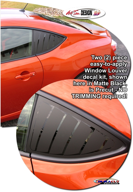 Scion Fr S And Subaru Brz Simulated Window Louver Decal Kit 1