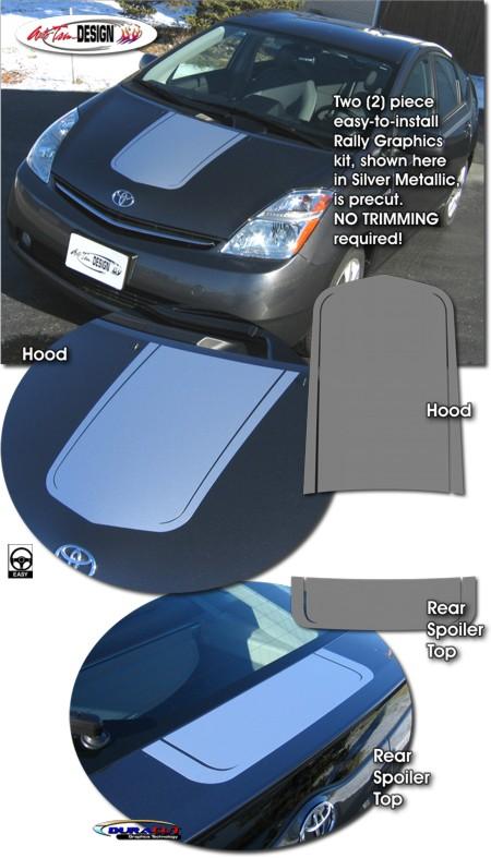 Rally Stripe Graphic Kit 1 For Toyota Prius