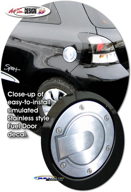 Simulated Billet Fuel Door Decal 1 For Toyota Yaris Vitz