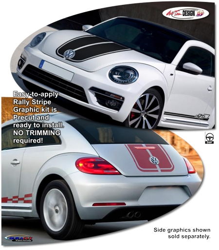 Red Window Tint >> Volkswagen Beetle Rally Stripe Graphic Kit 1