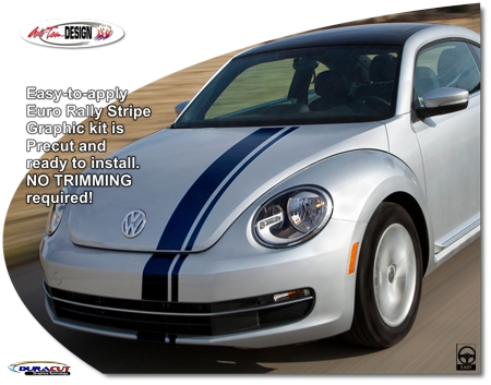 Volkswagen Beetle Euro Rally Stripe Graphic Kit 1