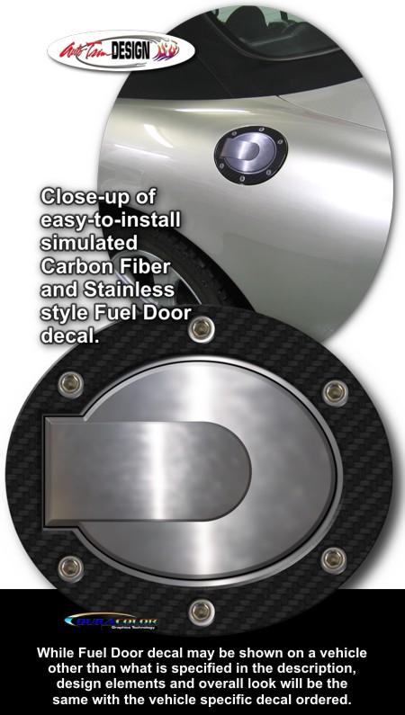 Simulated Carbon Fiber Fuel Door Decal 1 For Jaguar Xk8 Xkr