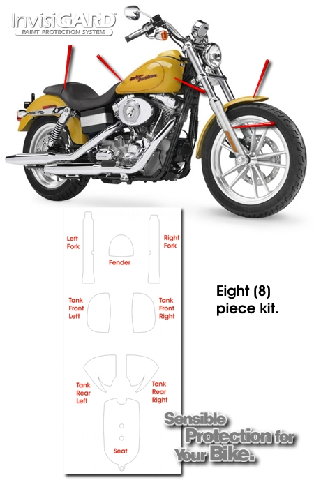 InvisiGARD® Paint Protection Kits for Motorcycles - American