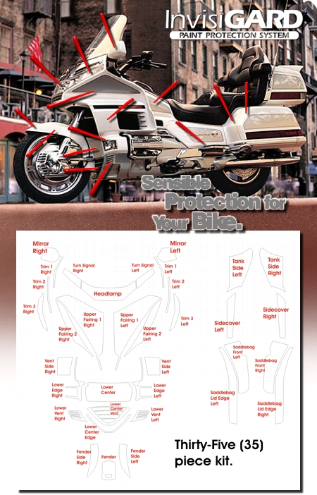 Invisigard Paint Protection Kit For Honda Gold Wing Gl1500