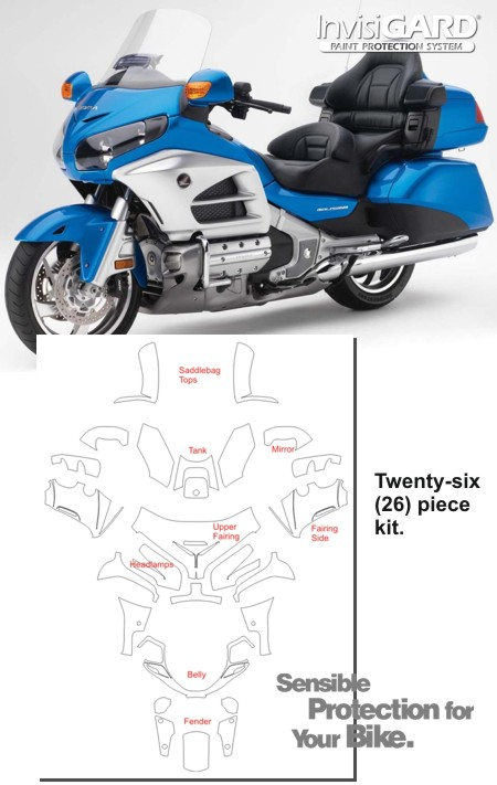 Honda Gold Wing Gl1800 Paint Protection Kit Invisigard