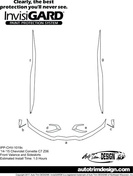 chevrolet corvette c7 z06 invisigard paint protection