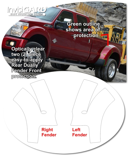 Ford Super Duty InvisiGARD Rear Dually Fender Front