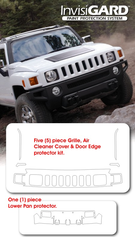 Hummer Paint Protection Clear Bra Guard Grille