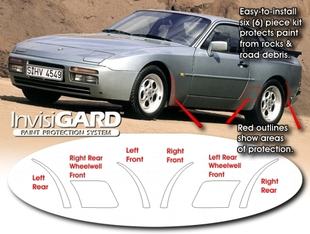 Auto Touch Up Paint >> Porsche 944 InvisiGARD Wheel Well Stone Guard Kit