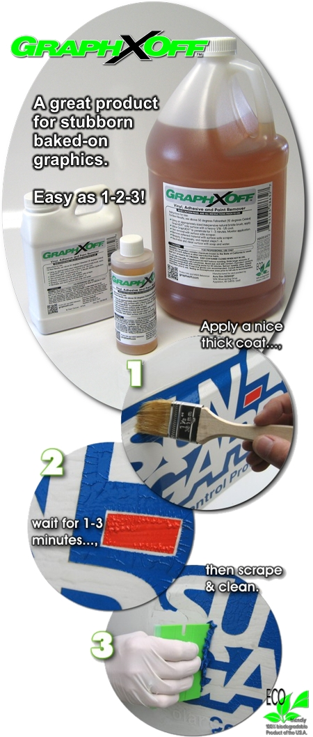 Graphxoff Vinyl Adhesive And Paint Remover Grog